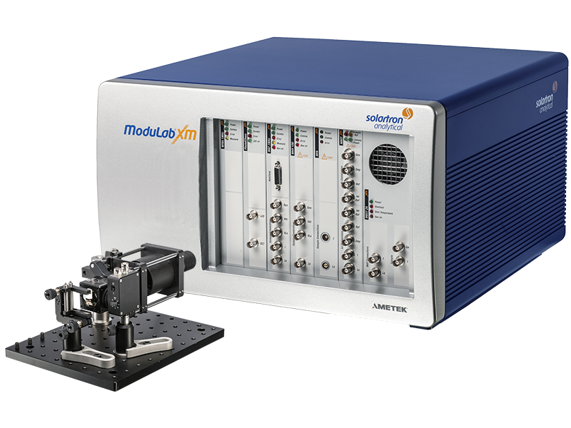 Solartron Analytical - ModuLab XM MTS with DSSC Optical Bench - Tilt Left